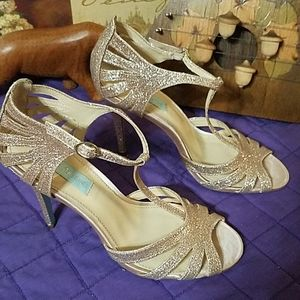 Betsey Johnson glittery heels